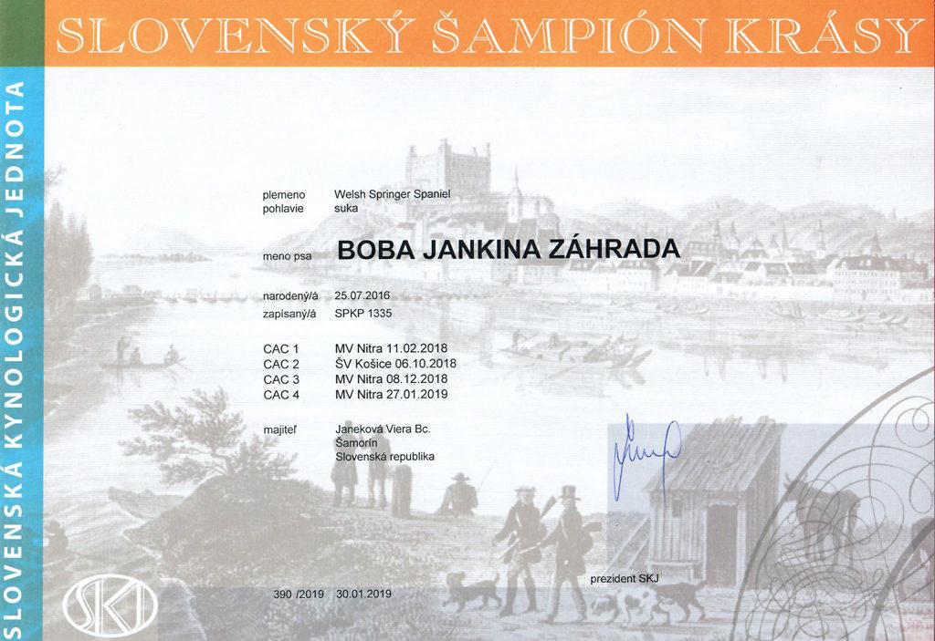 BOBA je Slovenský šampión krásy